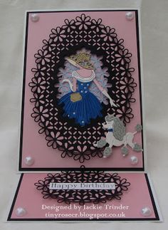 Tinyrose's Craft Room: Tattered Lace - Out for a Stroll Art Deco Cards, Tonic Cards, Tattered Lace Cards, Dress Card, Shaped Cards, Beautiful Handmade Cards, Mothers Day Cards, Handmade Birthday Cards, Flower Cards