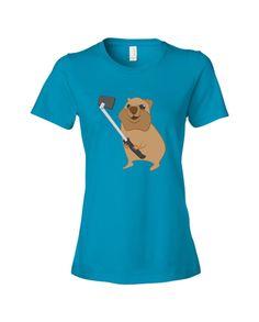 Female Quokka Selfie Tee $24 Quokka, Shirt Dress, T Shirt, Selfie, Female, Tees, Mens Tops, Fashion, Supreme T Shirt