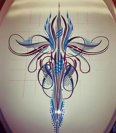 Car Pinstriping, Pinstriping Designs, Air Brush Painting, Sign Painting, Car Part Art, Pinstripe Art, Flame Art, Garage Art, Paint Stripes