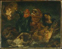 """Copy after Delacroix's """"Bark of Dante""""  Édouard Manet  (French, Paris 1832–1883 Paris)   Date: ca. 1859   Medium: Oil on canvas"""
