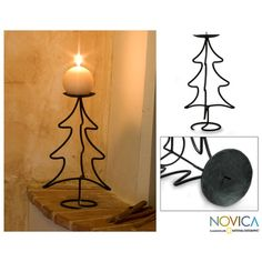 @Overstock.com.com - Iron 'Light of Christmas' Candleholder (Guatemala) - Guatemala's Godoy Family invites to light a candle in the spirit of Christmas with this festive candleholder. They forge the iron tree by hand, with the candle's holder crowning the tree. Candle not included.  http://www.overstock.com/Worldstock-Fair-Trade/Iron-Light-of-Christmas-Candleholder-Guatemala/6296630/product.html?CID=214117 $48.59 candlehold, iron tree, godoy, candle holders, candles, christmas, guatemala, families, candl holder
