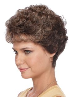 All over barely waved layers defines this feminine silhouette. Petite Amore is a short style that features a tapered nape and a soft touch of wispy bangs. Remy Human Hair, Human Hair Wigs, Wilshire Wigs, Wispy Bangs, Halloween Wigs, Creative Hairstyles, Synthetic Wigs, Hairstyles With Bangs, Textured Hair