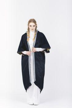 "Reversible cape from AGURK AW15 Collection ""Tripping"". Young Danish fashion brand AGURK designs feminine streetwear. #scandinavian #streetwear #fashion"