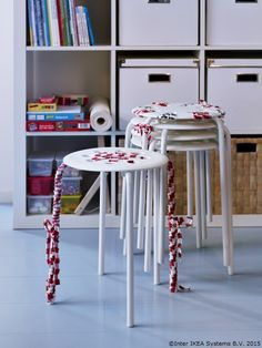 MARIUS Stool IKEA The stool can be stacked, so you can keep several on hand and store them on the same space as one. Fire Pit Table And Chairs, Black Dining Room Chairs, Scandinavian Dining Chairs, Upholstered Dining Chairs, Living Room Chairs, Marius, Parents Room, White Stool, Classroom Organisation