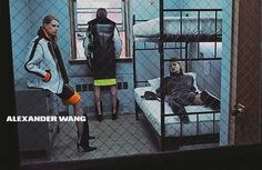 Alexander Wang F/W - Anna Ewers, Vanessa Moody, Kaitlin Aas, Lexi Boling and Kat Hessen by Steven Klein Stylist: Karl Templer Hair: Anthony Turner Make-up: Diane Kendal Alexander Wang, Gucci Mane, Cannes, Prison, Fall Winter 2014, Autumn, Fall 14, Spring 2014, Summer 2014