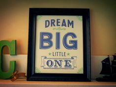 8x10 Dream Big Little Ones Giclee Art print for a by Earmark