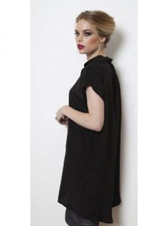 400c14d68ca33e Young British Designers  Black Silk Mercy Shirt Dress by Mercy Delta -  Every wardrobe cries