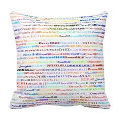 Drexel Hill Text Design II Throw Pillow