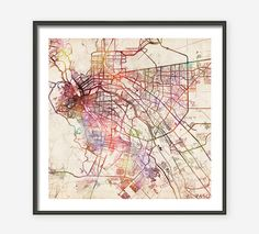 EL PASO Map, Watercolor painting, Old paper, Texas, Giclee Fine Art, Modern Abstract, Poster Print, Wall Art, Home Decor, Decoration by MapMapMaps on Etsy https://www.etsy.com/listing/223938367/el-paso-map-watercolor-painting-old