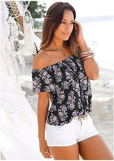 Order a sexy Black Multi Off The Shoulder Floral Top from VENUS. Shop short sleeve tops, tanks, tees, blouses and more at an affordable price today! Floral Tops, Lace Tops, Off The Shoulder Top Outfit, Venus Swimwear, Latest Fashion For Women, Womens Fashion, Mix And Match Bikini, Fashion Vocabulary, Summer Outfits