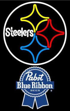 Pabst Blue Ribbon Pittsburgh Steelers NFL Neon Sign 1 0019, Pabst with NFL Neon Signs | Beer with Sports Signs. Makes a great gift. High impact, eye catching, real glass tube neon sign. In stock. Ships in 5 days or less. Brand New Indoor Neon Sign. Neon Tube thickness is 9MM. All Neon Signs have 1 year warranty and 0% breakage guarantee.