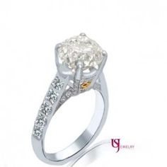 EGL Certified 5.22 Carat Round Cut Diamond Engagement Ring 18k White Gold H/SI-3
