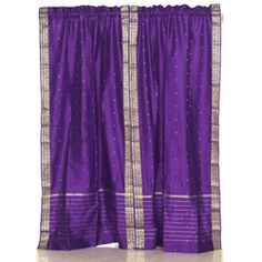 @Overstock - Add splendor to any room in your home with these rod pocket sari sheer curtains from India. These handmade purple drapes are heavily bordered with excellent artwork.   http://www.overstock.com/Worldstock-Fair-Trade/Sheer-Sari-84-inch-Purple-Rod-Pocket-Curtain-Panel-Pair-India/6131619/product.html?CID=214117 $55.99