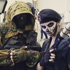 Kapkan and Caveira - Rainbow Six Siege by on DeviantArt Rainbow Six Siege Art, Rainbow 6 Seige, Rainbow Six Siege Memes, Tom Clancy's Rainbow Six, Airsoft, Caveira Rainbow Six Siege, Siege Operators, Go Wallpaper, Military Women