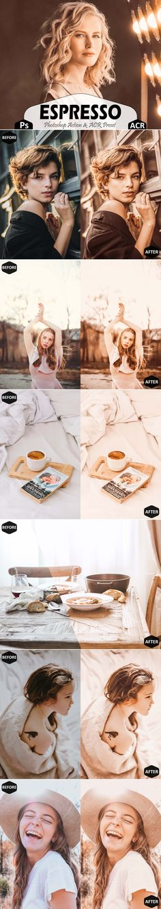 Espresso Photoshop Actions And ACR Presets This set includes----- -3 Unique photoshop actions (.atn file)  -1 installation guide For photoshop action (.pdf file) -3 Unique ACR Presets (.xmp file)  brew classic hue, soft bright airy , portrait iphone app, summer social media, indoor image colour, hot blogger outdoor, white influencer cc, vsco vibrant nature, warm color palette, clean photo filter, instagram editting, vogue moody digital, modern picture tone Printable Art, Printables, Best Photoshop Actions, Camera Raw, Iphone App, Personal Photo, Craft Business, Business Ideas, Lightroom Presets