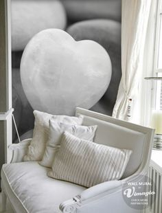 Vimagio Wallmural Stone Heart