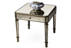 """Glass Menagerie  Monica Accent Table  24""""W x 24""""D x 24""""H  $699.00"""