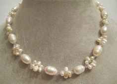 This piece would be a perfect bridal necklace or for that special occasion. Price....at $95.00....it's a steal. See more info and designs at   http://www.artfire.com/users/AnnasJewelryDesigns and follow me on http://www.facebook.com/Annas.Jewelry