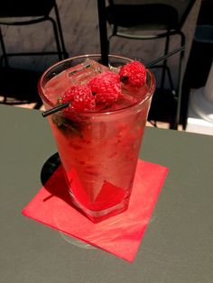 Refreshing Raspberry Mojitos are being served at Prova Brazil Steakhouse & Italian Cuisine's outside bar this beautiful Monday afternoon.