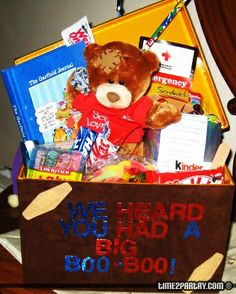 Get well soon gift basket.
