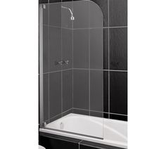 Buy HOME Half Framed Single Radius Shower Screen - Clear Silver at Argos.co.uk, visit Argos.co.uk to shop online for Shower enclosures, screens and trays, Showers and accessories, Home improvements, Home and garden
