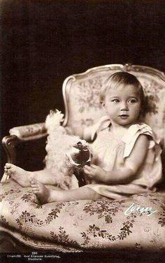 Little Princess Josephine-Charlotte of Belgium, future Grand Duchess of Luxemburg
