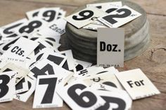 10 x Vintage Price Tags with Numbers Grocery by VintageInkPrints