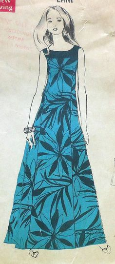 Vintage 70s Hawaiian Muu-Muu Sewing Pattern