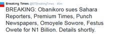 News, fashion, gists, home, entertainment, politics and lots more!: Billion Naira Law Siut As Obanikoro Drags SaharaRe...