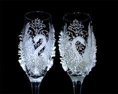 Boda champán gafas flautas de champán de boda boda novia y
