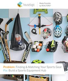 No more rummaging through the garage to find your favorite glove. Pegboards make everything easily accessible and your home seem bigger than ever.