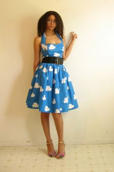 """A dress made of fabric with the """"Toy Story"""" cloud print :-D #IWantOne"""