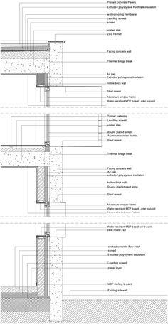 filipe pina + maria inês costa unite stone and concrete for JA house Concrete Facade, Concrete Houses, Precast Concrete, Exposed Concrete, Concrete Building, Concrete Structure, Concrete Wall, Concrete Texture, Section Drawing Architecture