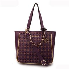 Perfect Michael Kors Harper Flower Perforated Large Purple Totes Sale Online