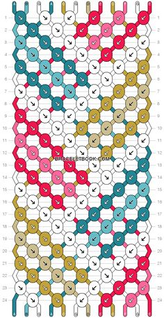 Plaid friendship bracelet pattern number 3214 - For more patterns and tutorials visit our web or the app!