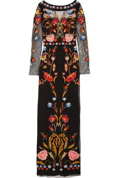 Temperley London|Toledo floral-embroidered tulle gown|NET-A-PORTER.COM