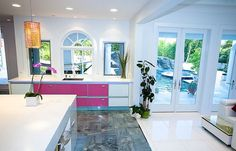 Unique Pink Room Decor for a Beautiful Home Design: Pink And White Kitchen Furniture ~ mybutteryfly.com Decorating Inspiration