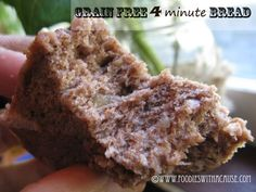 Paleo Microwave Bread Recipe 4 minutes to a soft chewy bread!