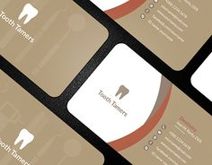 Dental Business Card designed by 🎨 ROCK design 🎨. Dental Business Cards, Unique Business Cards, Business Card Design, Dental Logo, Dental Center, Rock Design, Business Fashion, Dentistry, Cards Against Humanity