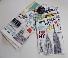 Cynthia Rowley Set Of 2 Kitchen Towels,New York City,New