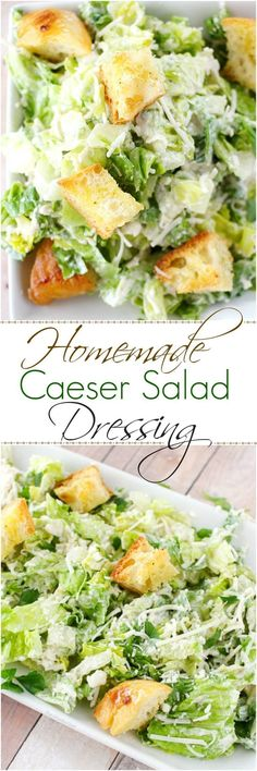 Forget about bottled salad dressing, this simple homemade caesar salad dressing is about 1000x better!
