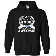 Made in 1998 T Shirts, Hoodies. Check Price ==► https://www.sunfrog.com/Birth-Years/Made-in-1998--T-Shirt-Hoodie-Hoodies-Year-Name-Birthday-4212-Black-34023829-Hoodie.html?41382