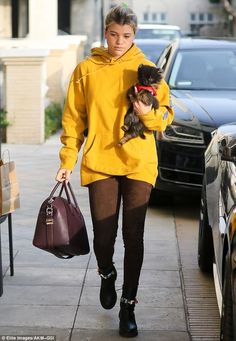 Love me, love my dog: Sofia Richie, 18, enjoyed a day of shopping on Tuesday, accompanied ...
