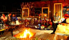 Party in the camp with traditional Moroccan musicians www.originalsurfmorocco.com