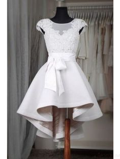 white high low homecoming dresses #homecomingdress #SIMIbridal