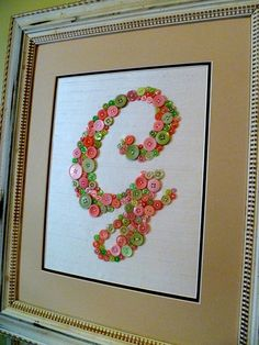 Framed Button Monograms