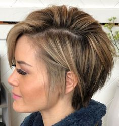 100 Mind-Blowing Short Hairstyles for Fine Hair - Pixie Bob For Women With Thin Hair - Thin Hair Styles For Women, Short Hair Cuts For Women, Medium Hair Styles, Short Hair Styles, Short Fine Hair Cuts, Hair Medium, Short Cuts, Thin Hair Cuts, Short Thin Hair