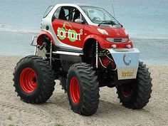 Monster Smart Car, with the mechanicals coming primarily from a Mercedes-Benz Unimog 406 series