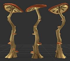 Chalie3D huge mushroom trees