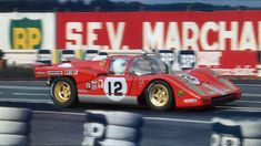 24 heures du Mans 1971 - Ferrari 512M #12 - Pilotes : Sam Pozey / Tony Adamovicz - 3ème